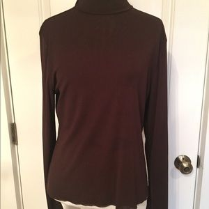 Babette Tops - ⭐️BABETTE SF TOP TURTLENECK DARK BROWN RAW EDGE M